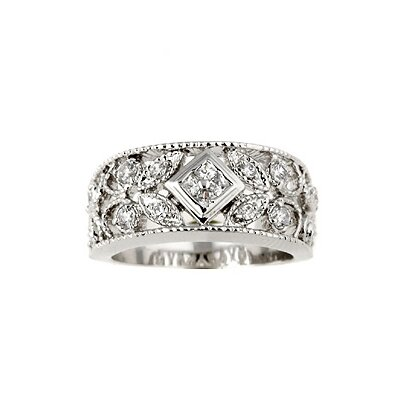 "Evalue Jewelry Sterling Essentials Sterling Silver Antique Design Cubic Zirconia Ring - Size: 8"" at Sears.com"