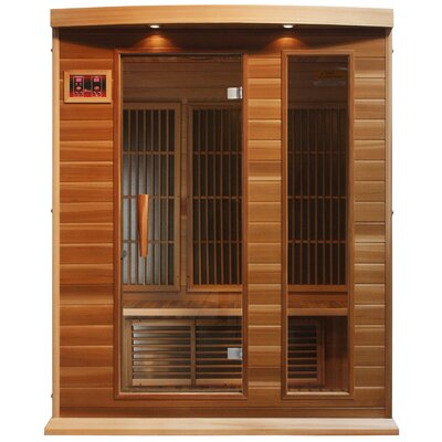 MAXXUS 3 Person Far Infrared Carbon Cedar Sauna at Sears.com