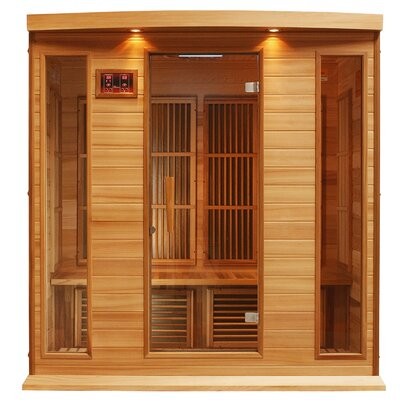 MAXXUS 4 Person Far Infrared Carbon Red Cedar Sauna at Sears.com