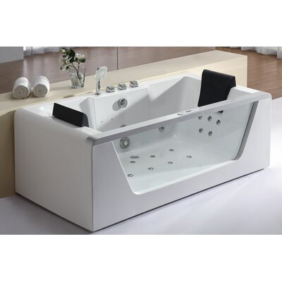 Eago 70.88 x 35.38 Air/Whirlpool Bathtub