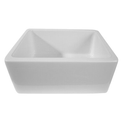 24 x 18.13 Single Bowl Thick Fireclay Farmhouse Kitchen Sink Finish: Biscuit