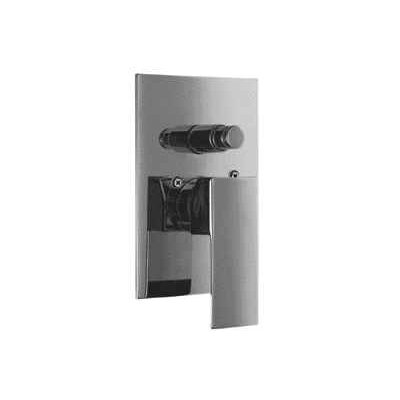Shower Valve Mixer with Square Lever Handle and Diverter Finish: Polished Chrome