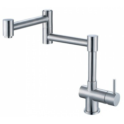 Single Handle Deck Mount Retractable Kitchen Faucet Finish: Brushed Stainless Steel