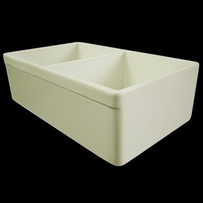 32.75 x 19.88 Double Bowl Farmhouse Kitchen Sink Finish: Biscuit