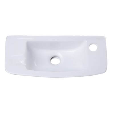Ceramic 18 Wall Mount Bathroom Sink