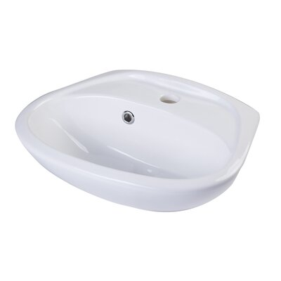 Small 17 Wall mount Bathroom Sink with Overflow