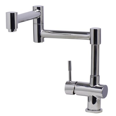 Single Handle Pot Filler Finish: Polished Stainless Steel