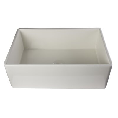 Gillis 29.88 x 19.75 Smooth Farmhouse Kitchen Sink Finish: Biscuit