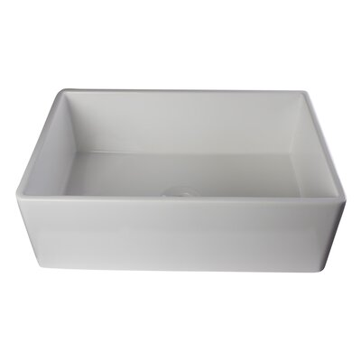 Gillis 29.88 x 19.75 Smooth Farmhouse Kitchen Sink Finish: White