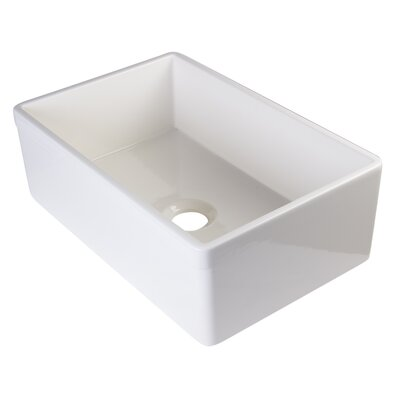 29.88 x 19.75 Single Bowl Farmhouse Kitchen Sink Finish: Biscuit