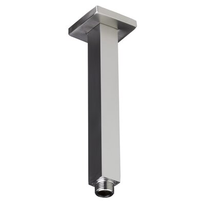 8 Square Ceiling Mounted Shower Arm for Rain Shower Heads Finish: Brushed Nickel