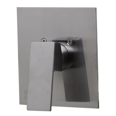 Shower Valve Mixer with Square Lever Handle Finish: Brushed Nickel