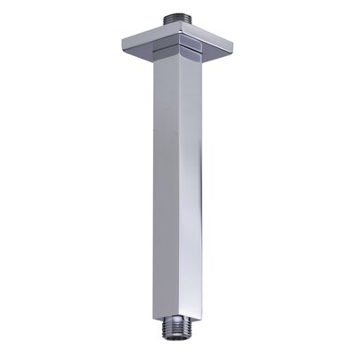 8 Square Ceiling Mounted Shower Arm for Rain Shower Heads Finish: Polished Chrome