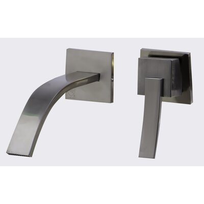 Single Handle Wall Mounted Bathroom Faucet Finish: Brushed Nickel