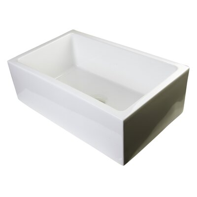 30 x 18 Thick Wall Fireclay Single Bowl Farmhouse Kitchen Sink Finish: Biscuit