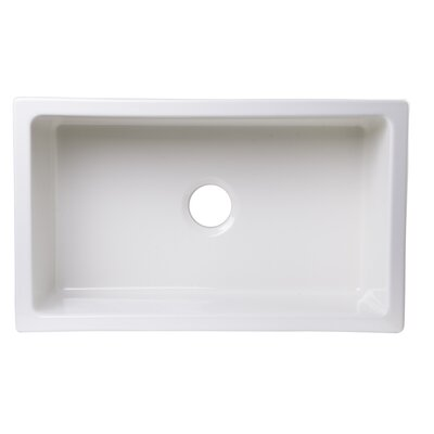 30 x 18 Undermount Fireclay Kitchen Sink Finish: Biscuit