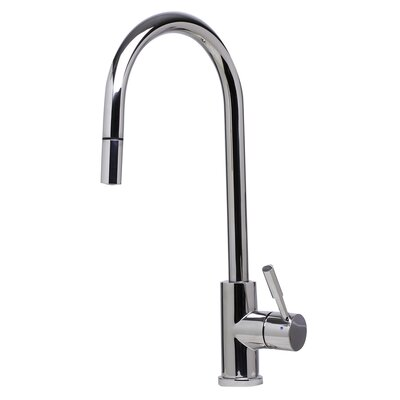Single Handle Deck Mount Pull Down Kitchen Faucet Finish: Polished Stainless Steel