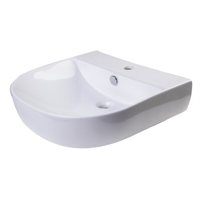 D-Bowl Metal 20 Wall Mount Bathroom Sink with Overflow