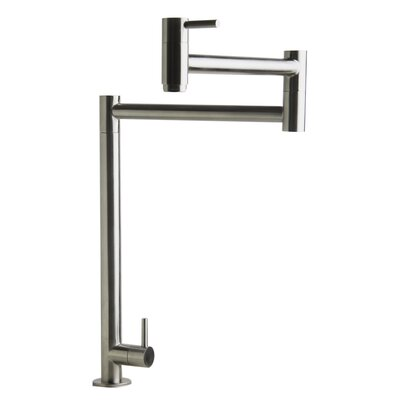 Retractable Pot Filler Kitchen Faucet Finish: Brushed Stainless Steel