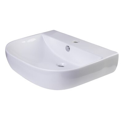 D-Bowl 24 Wall mount Bathroom Sink with Overflow