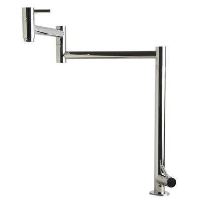 Retractable Pot Filler Kitchen Faucet Finish: Polished Stainless Steel