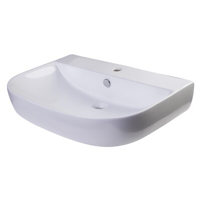 D-Bowl 28 Wall mount Bathroom Sink with Overflow