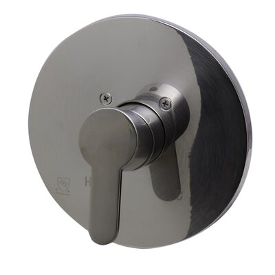 Shower Valve Mixer with Rounded Lever Handle Finish: Brushed Nickel