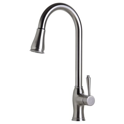 Pull Down Single Handle Kitchen Faucet Finish: Solid Brushed