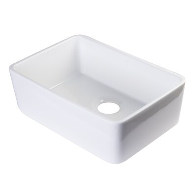23.5 x 16 Kitchen Sink Finish: White