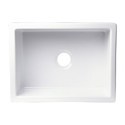 24 x 18 Undermount Fireclay Kitchen Sink Finish: Biscuit