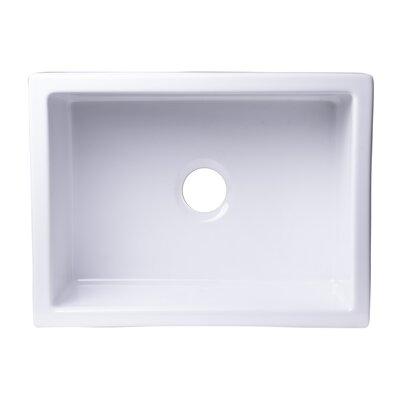 24 x 18 Undermount Fireclay Kitchen Sink Finish: White