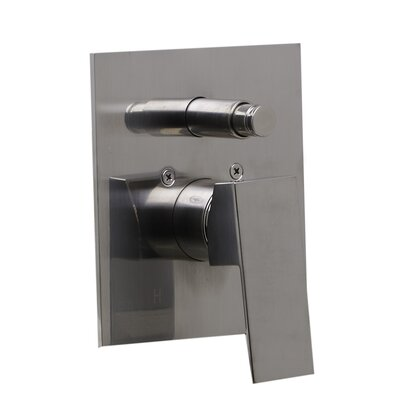 Shower Valve Mixer with Square Lever Handle and Diverter Finish: Brushed Nickel