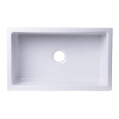 30 x 18 Undermount Fireclay Kitchen Sink Finish: White