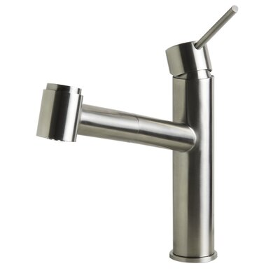 Kitchen Faucet with Pull-Out Spray Finish: Brushed