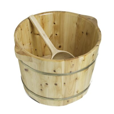 Foot Soaking 11 x 15 Barrel Bucket with Matching Spoon