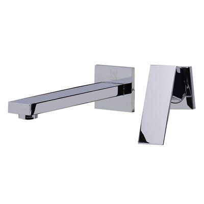 Single Handle Wall Mounted Bathroom Faucet Finish: Polished Chrome