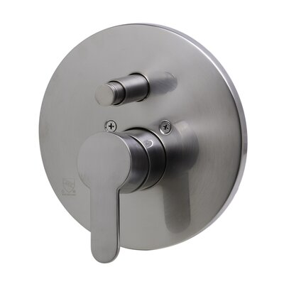 Shower Valve Mixer with Rounded Lever Handle and Diverter Finish: Brushed Nickel