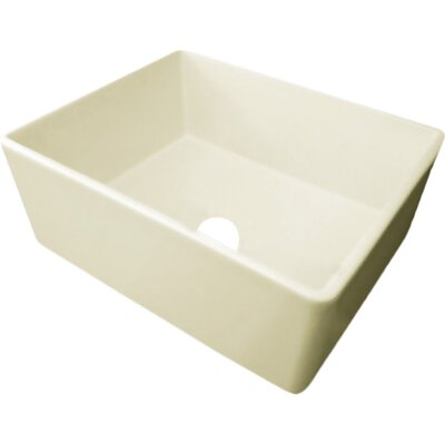 25.5 x 17.25 Farmhouse Kitchen Sink Finish: Biscuit