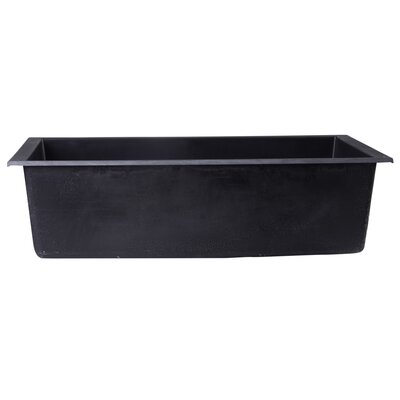 Lewis 30 x 17.75 Undermount Single Bowl Kitchen Sink Finish: Black