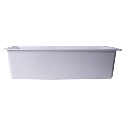Lewis 30 x 17.75 Undermount Single Bowl Kitchen Sink Finish: White
