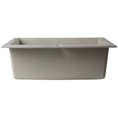 23.63 x 20.88 Drop-In Single Bowl Kitchen Sink Finish: Biscuit
