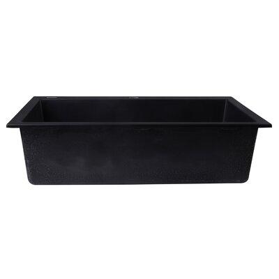 30 x 20 Drop-In Single Bowl Kitchen Sink Finish: Black