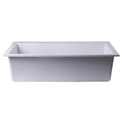 30 x 20 Drop-In Single Bowl Kitchen Sink Finish: White