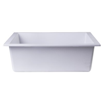 23.63 x 17.75 Undermount Single Bowl Kitchen Sink Finish: White