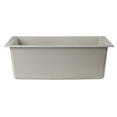 23.63 x 17.75 Undermount Single Bowl Kitchen Sink Finish: Biscuit