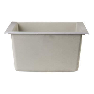 17.75 x 16.13 Undermount Rectangular Prep Kitchen Sink Finish: Biscuit