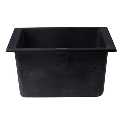 17.75 x 16.13 Undermount Rectangular Prep Kitchen Sink Finish: Black