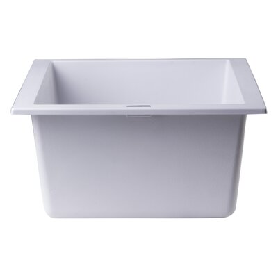 17.75 x 16.13 Undermount Rectangular Prep Kitchen Sink Finish: White