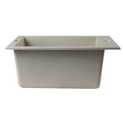 19.88 x 16.13 Drop-In Rectangular Prep Kitchen Sink Finish: Biscuit