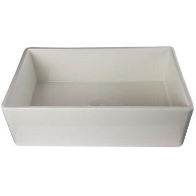 33 x 20 Single Bowl Fireclay Farmhouse Kitchen Sink Finish: Biscuit